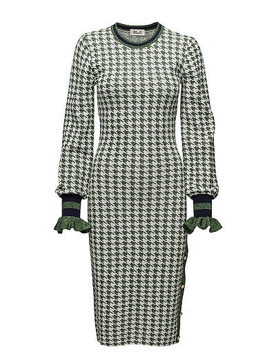 CORINDA - GREEN HOUNDSTOOTH
