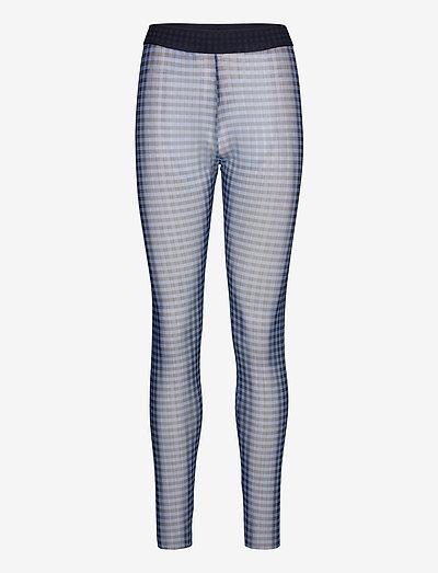 JAZZLYN - leggings - blue gingham