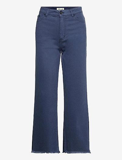 NEEDRA - pantalons larges - denim blue patch