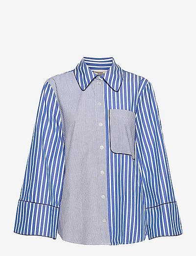 METTIE - langermede skjorter - blue folk stripe