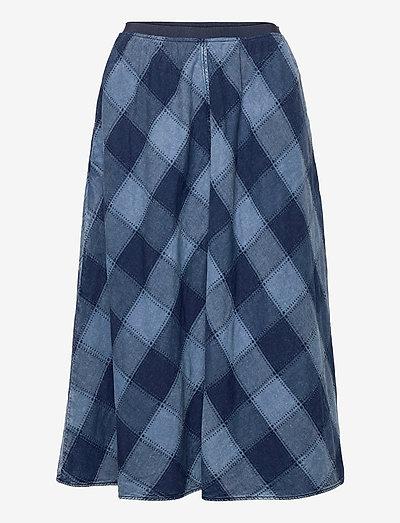 SHREELA - midi skirts - worn indigo