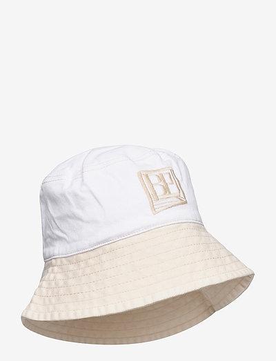 LEONA - emmer hoeden - denim creme patch