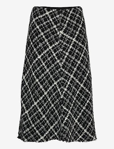 SCHAIN - midi skirts - black check boucle