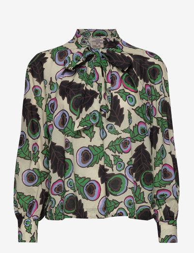 MAYA - blouses met lange mouwen - autumn leaves green