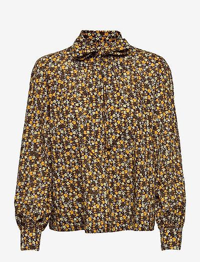 MAYA - langærmede bluser - yellow ditzy floral