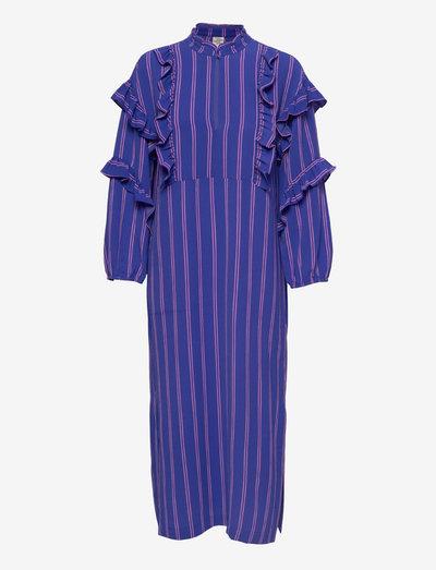 AHADI - sommerkleider - bluing pink stripe