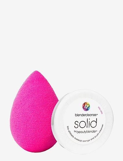 beautyblender pink  + mini solid cleanser - svampar - clear