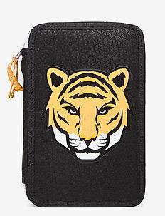 Three-section pencil case - Tiger Team - Étuis à crayons - black