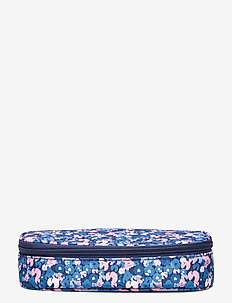 Oval pencil case, Sport Jr. - Flower - piórniki - dark blue