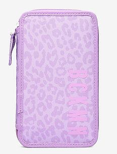 Three-section pencil case w/content, Sport jr. - Purple - Étuis à crayons - purple