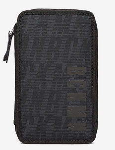 Three-section pencil case w/content, Sport jr. - Black - piórniki - black