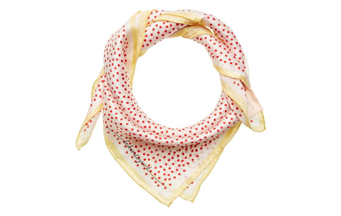BECKSÖNDERGAARD Dylan Dot Scarf - RED LOVE