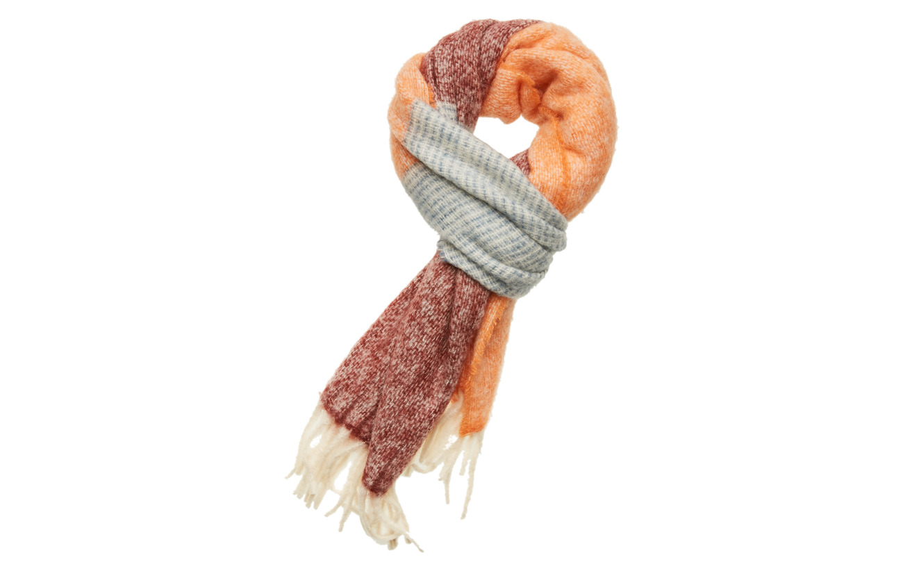 BECKSÖNDERGAARD Ingrid Scarf - DUSTY ORANGE