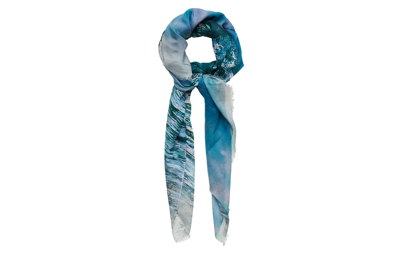 BECKSÖNDERGAARD Mountains Scarf - BLUE