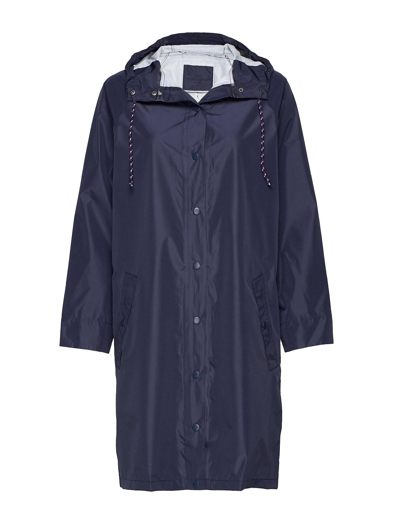 BECKSÖNDERGAARD Solid Magpie Raincoat - NAVY BLUE