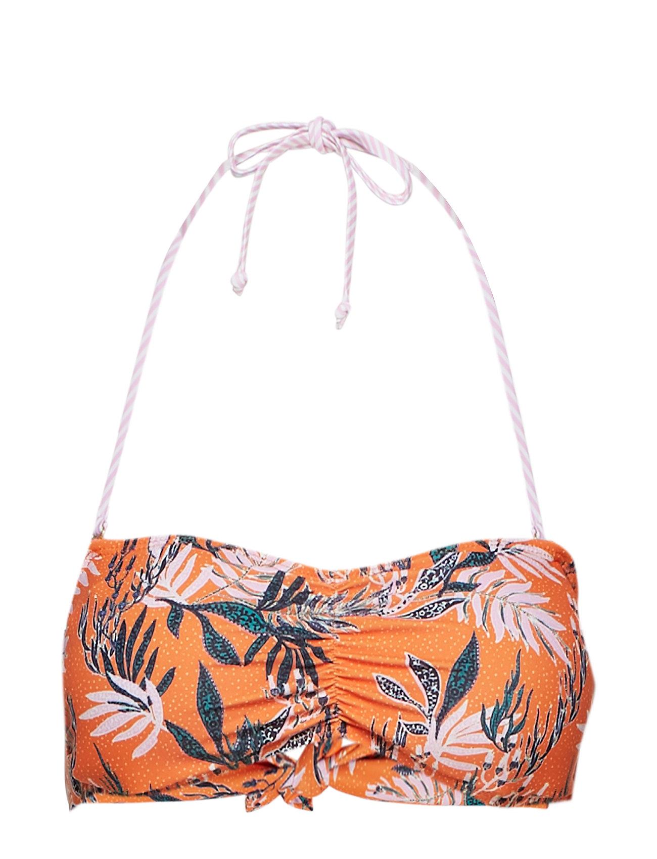 BECKSÖNDERGAARD Sylvia Bandeau Bikini - ORANGE