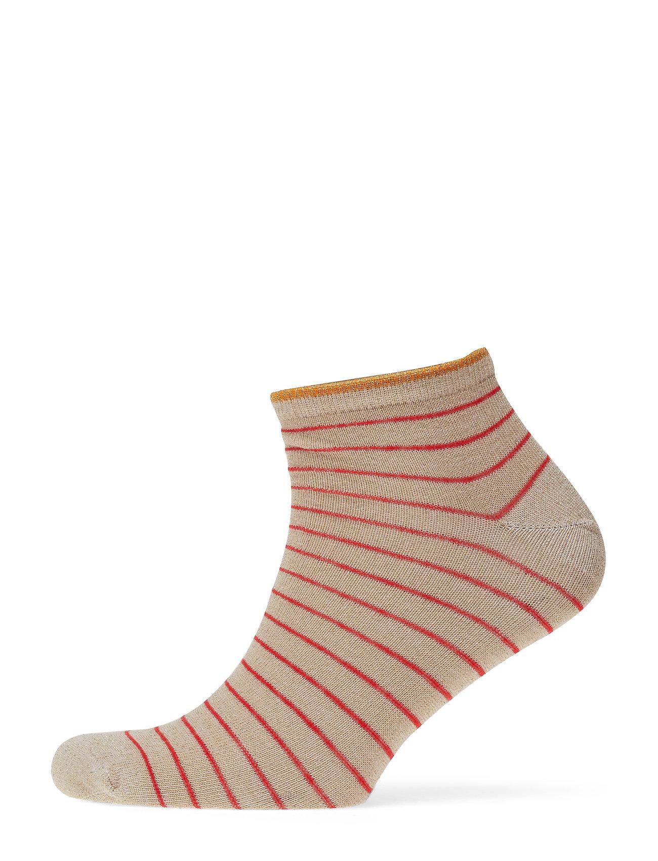 BECKSÖNDERGAARD Dollie Stripe Sock - RED LOVE