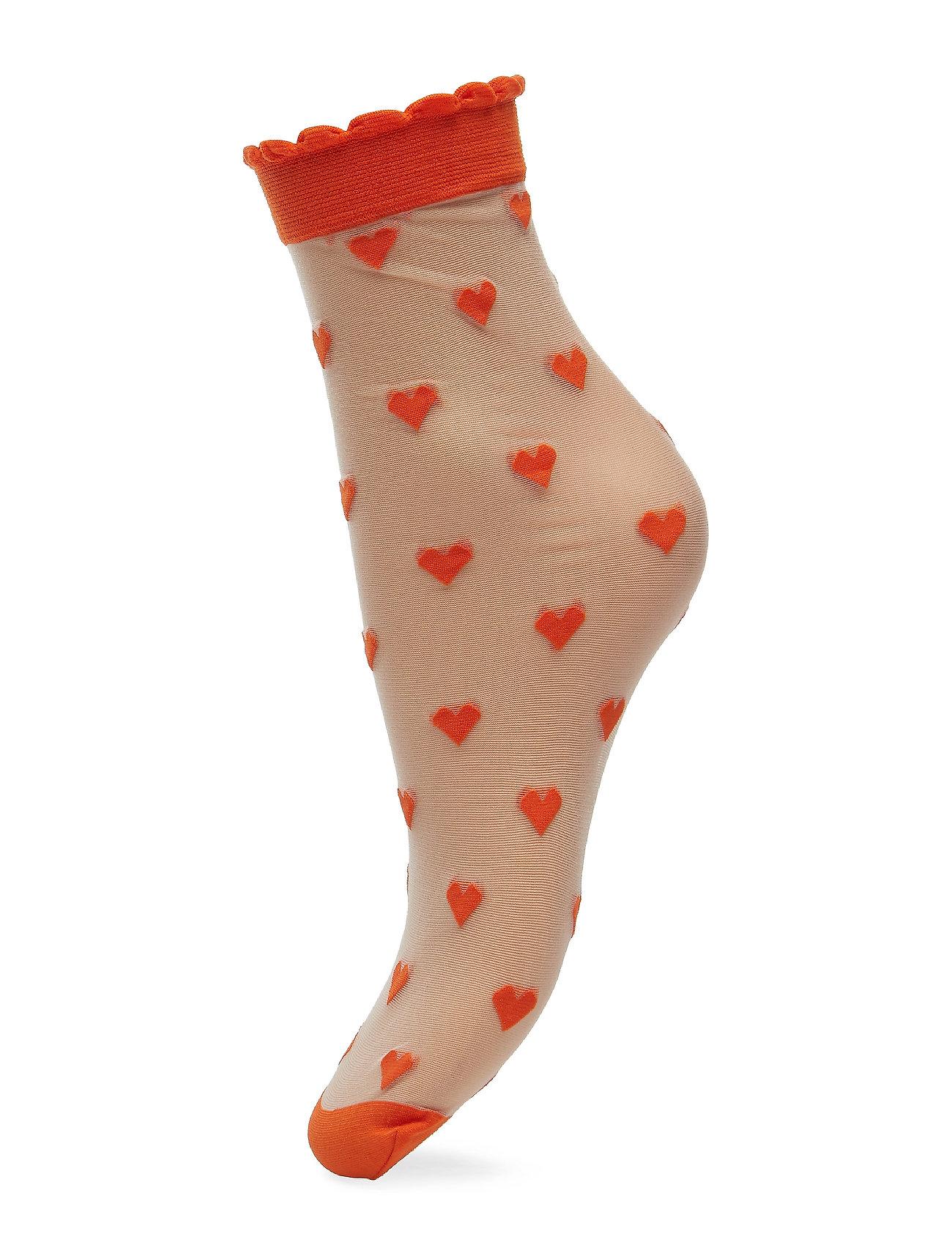 BECKSÖNDERGAARD Dagmar Hearts Sock - ORANGE