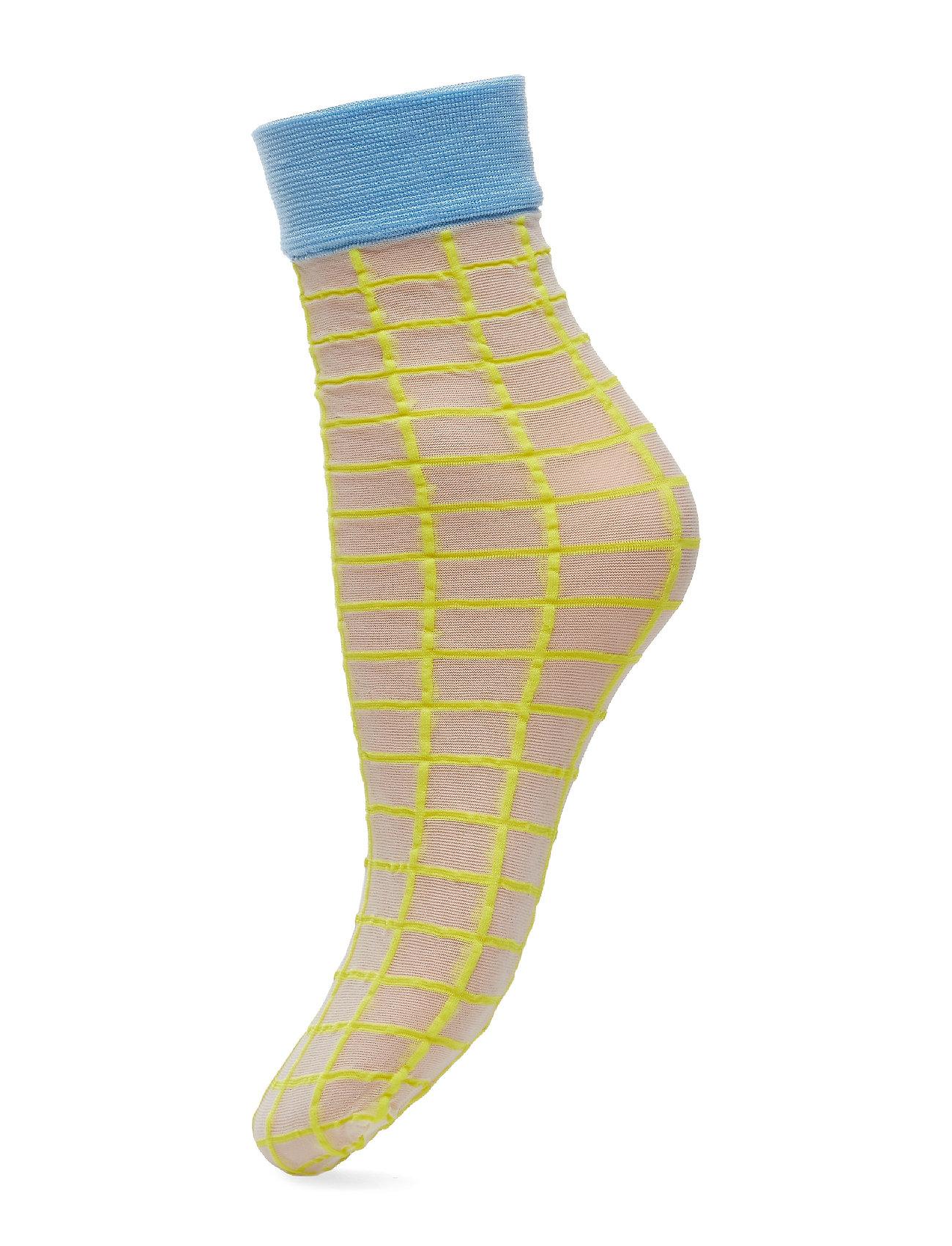 BECKSÖNDERGAARD Dagmar Square Sock - YELLOW