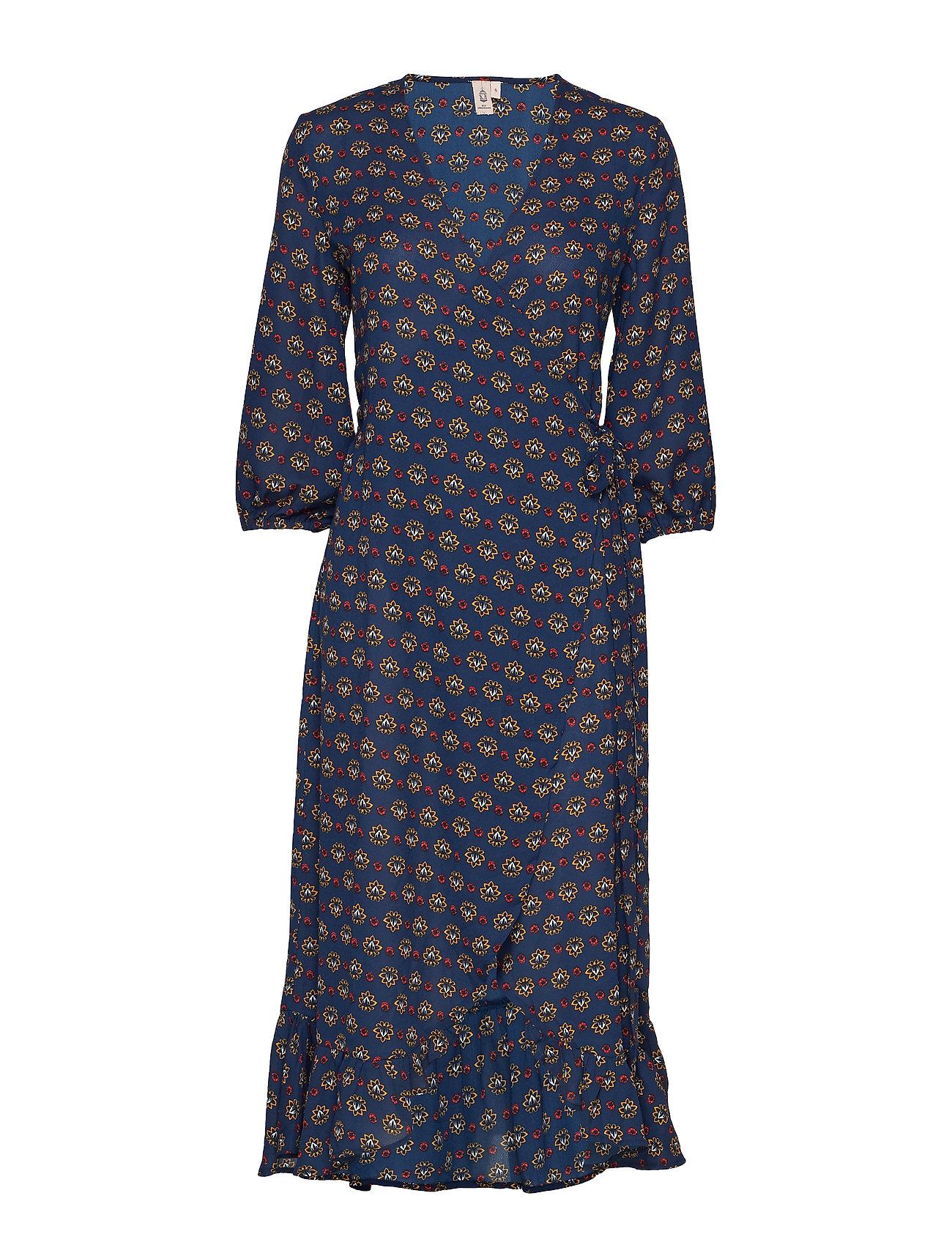 BECKSÖNDERGAARD Lotus Alva Dress - CLASSIC NAVY