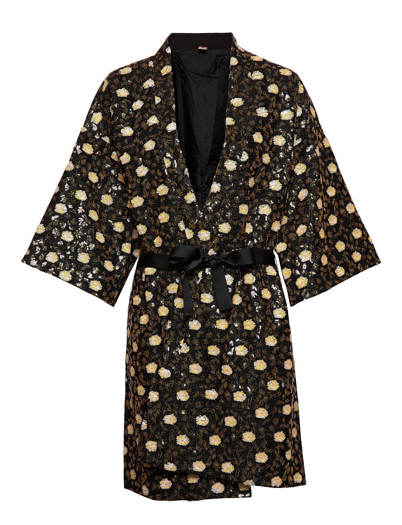 BECKSÖNDERGAARD Liberte Noelle Kimono - MISTED YELLOW