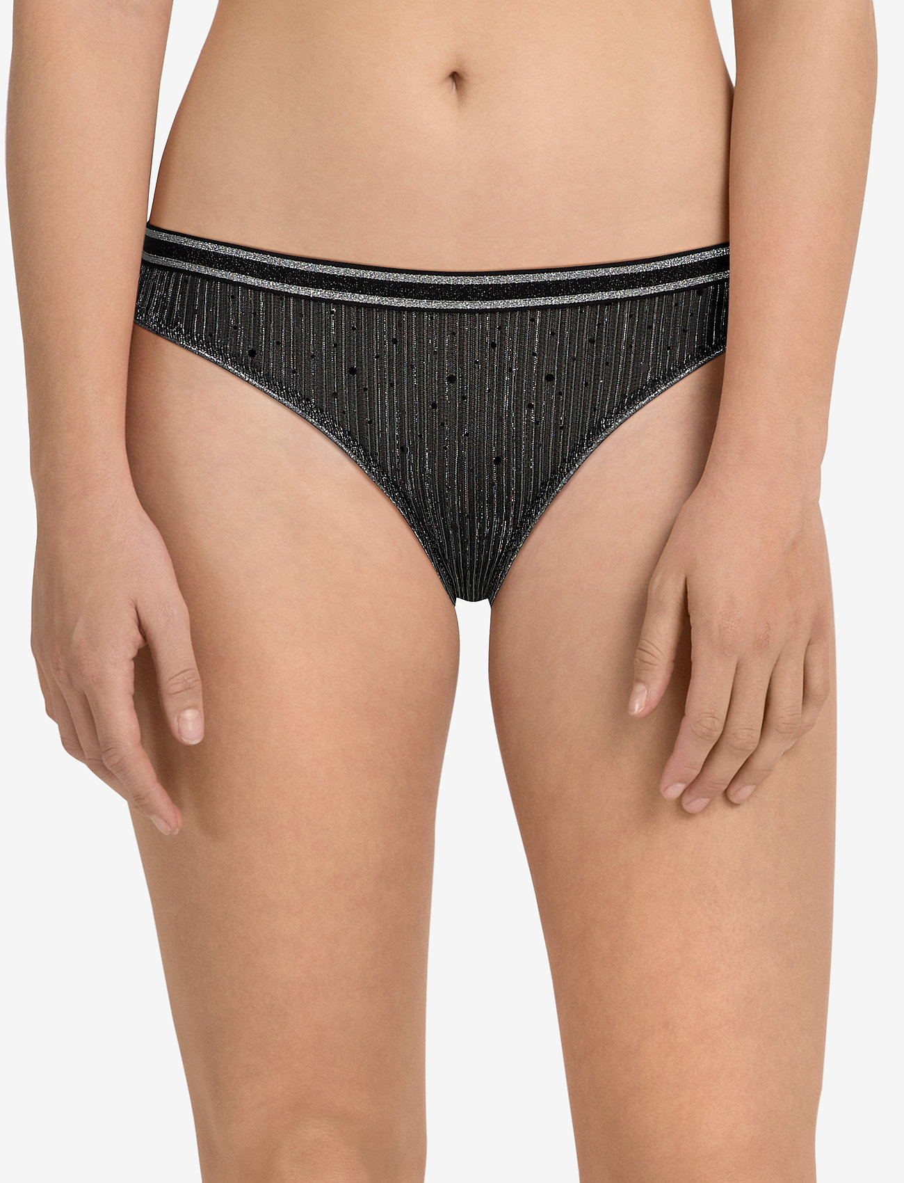 BECKSÖNDERGAARD Tallie Sequins Mesh Bottom - BLACK