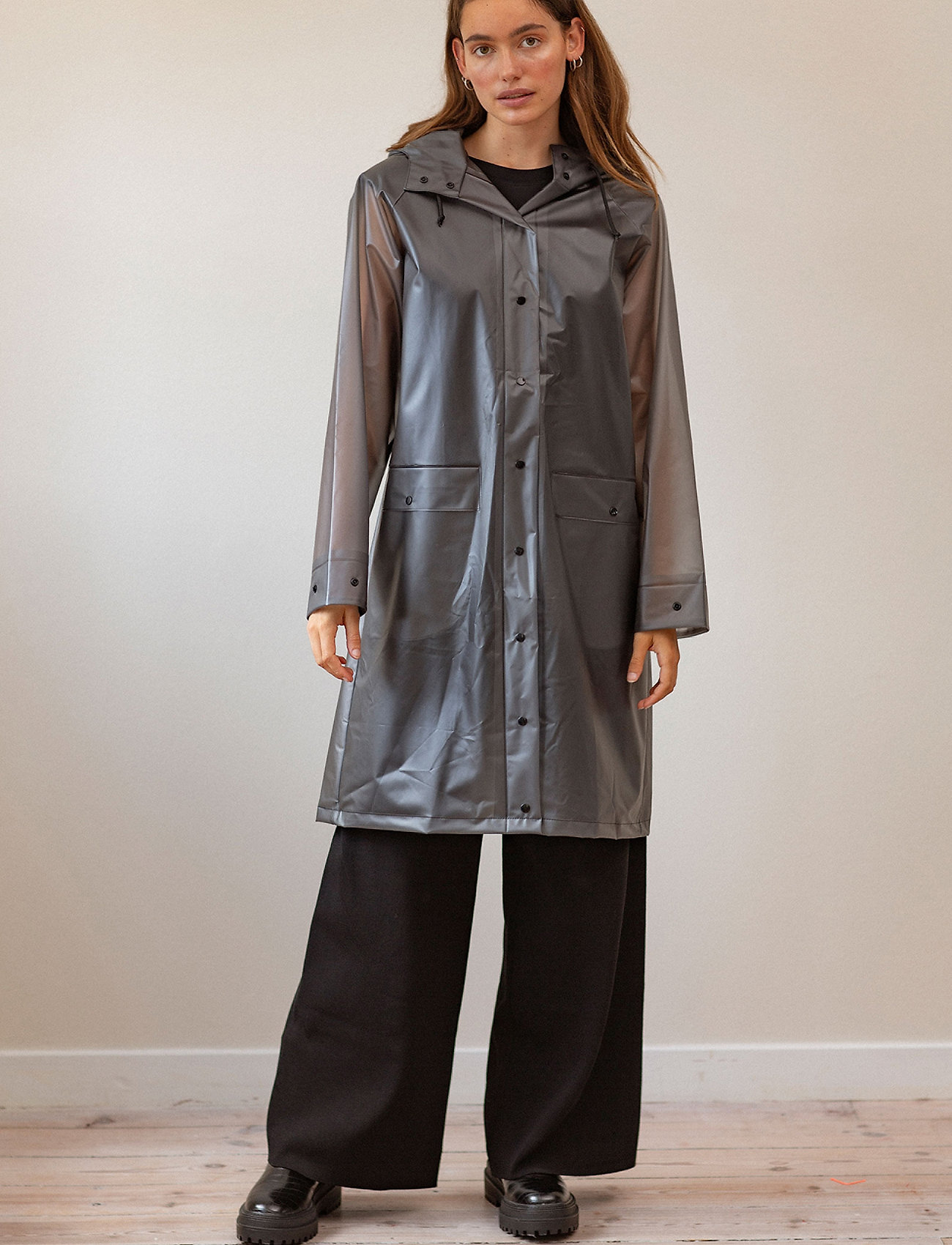 Becksöndergaard - Transparent Magpie Raincoat - sadevaatteet - grey - 0