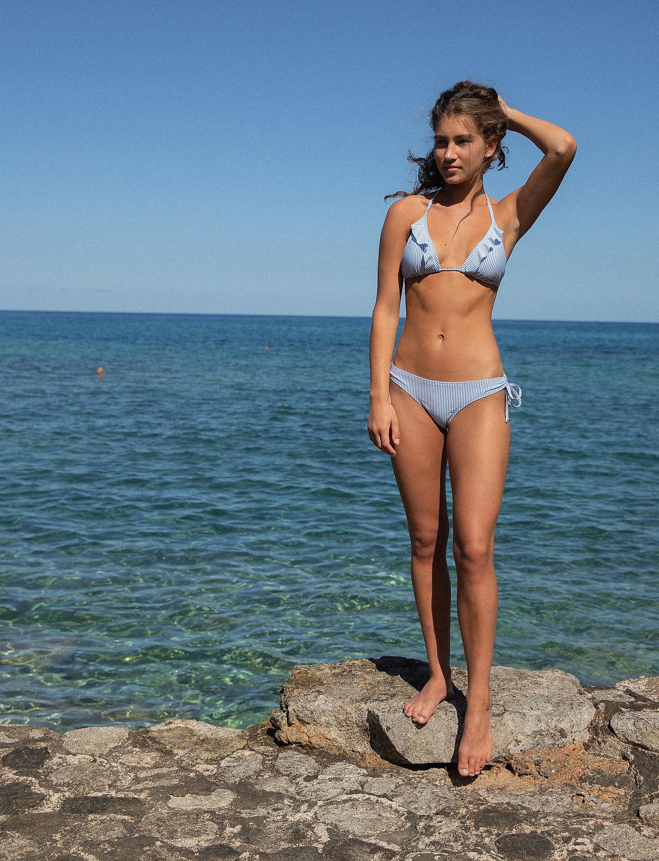 Becksöndergaard - Striba Ailis Bikini Top - bikinitopper - blue - 0