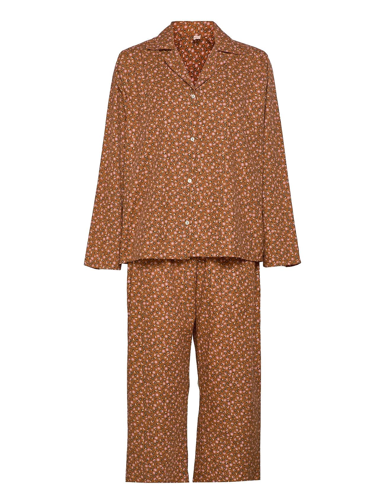 Aiyana Pyjamas Set Pyjamas Nattøj Brun Becksöndergaard