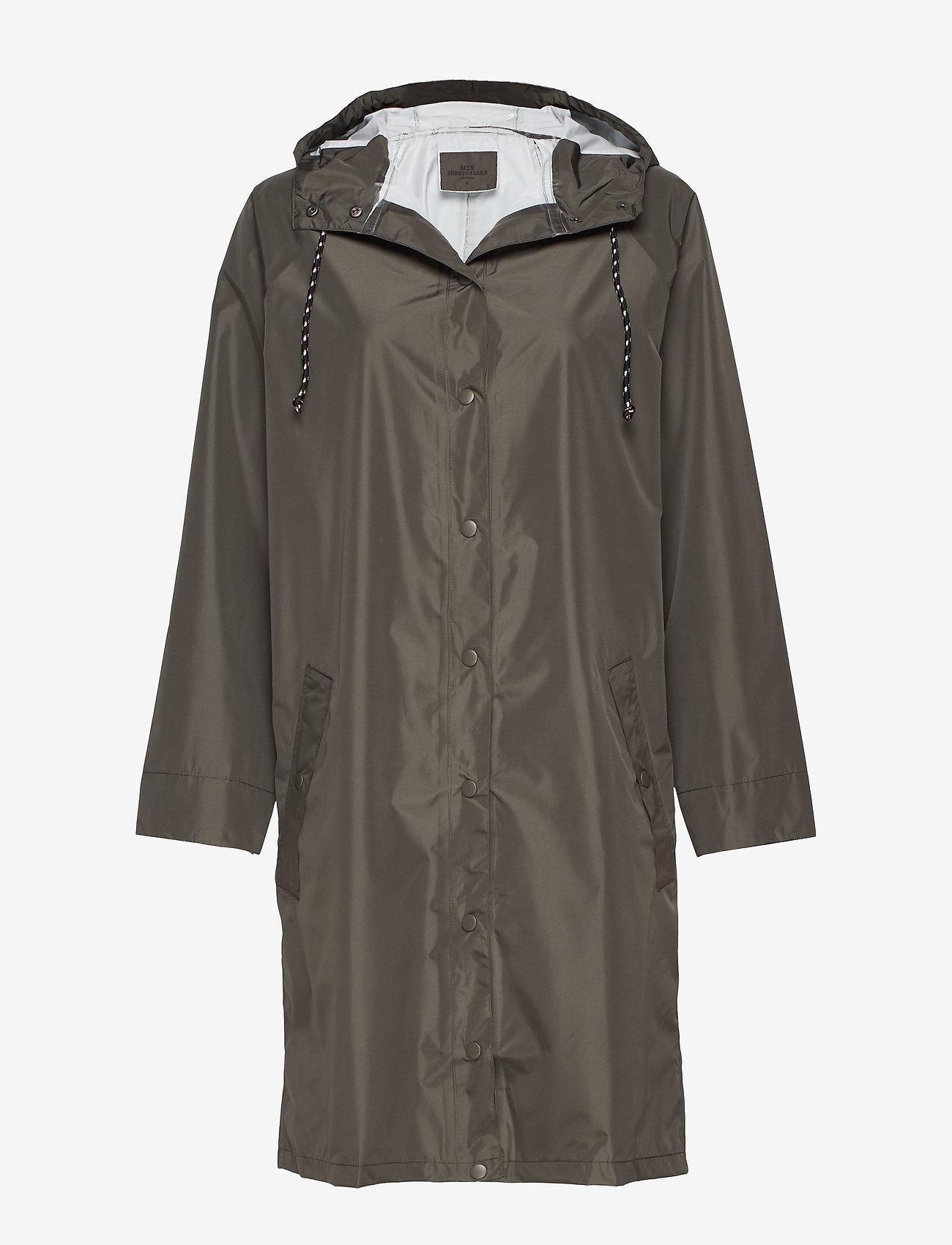 Becksöndergaard - Solid Magpie Raincoat - regntøj - army green - 0