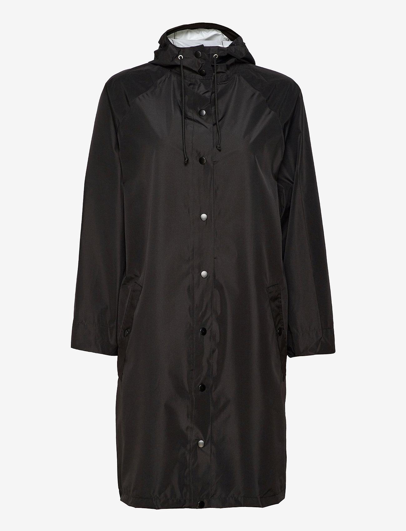 Becksöndergaard - Solid Magpie Raincoat - regnjakker - black - 0