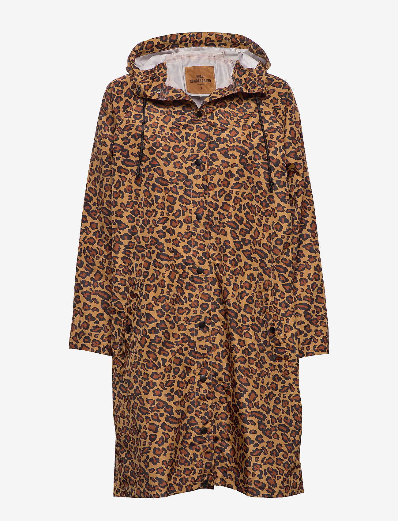 Becksöndergaard - Animal Magpie Raincoat - regnjakker - chocolate brown - 0