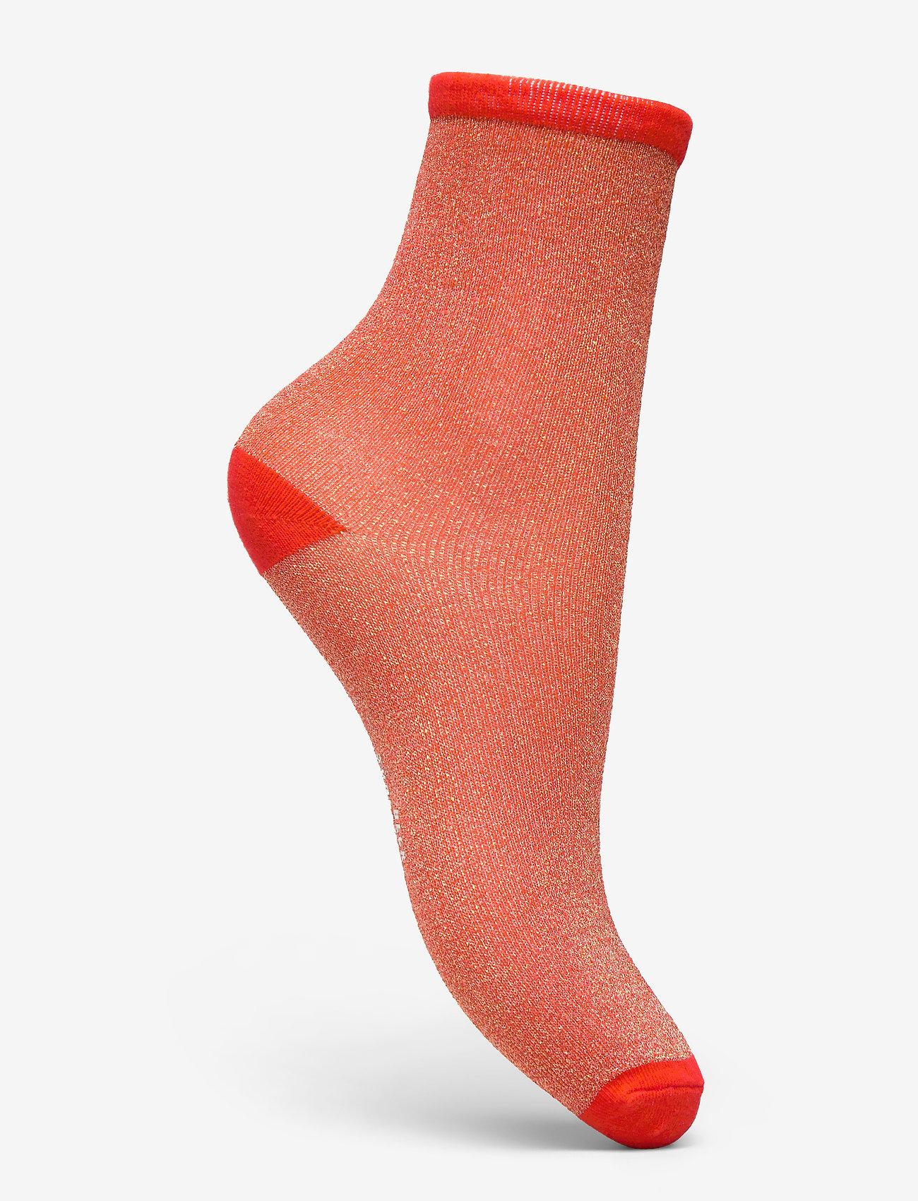 Becksöndergaard - Dina Solid - sokker - red love - 1