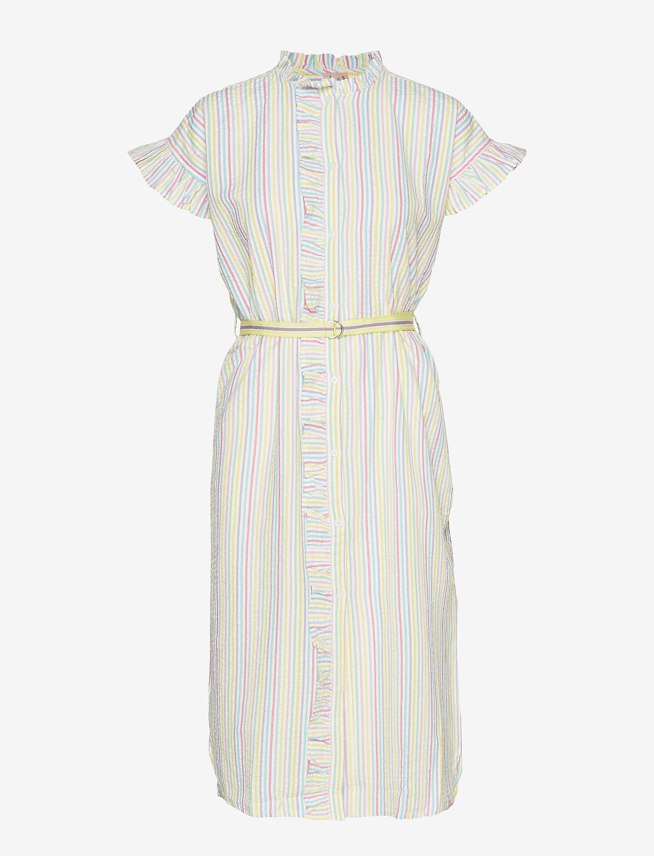 Becksöndergaard - Striped Casey Long Frill - midi kjoler - yellow - 0