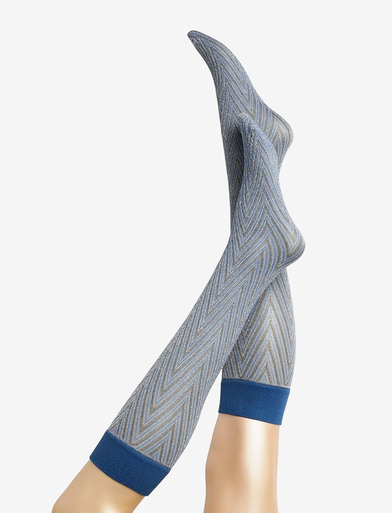 Becksöndergaard - Duca Zig Zag Sock - chaussettes hautes - light blue - 0