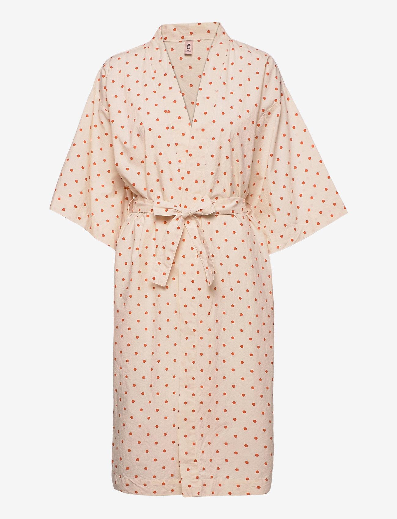 Becksöndergaard - Dot Liberte Kimono - nattøy & loungeklær - sand - 0