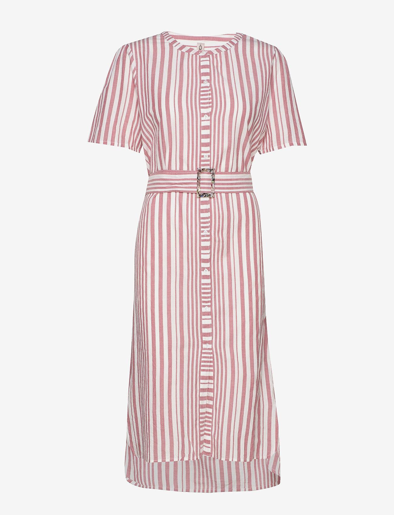 Becksöndergaard - Striped Casey Long - midimekot - fruit pink - 0