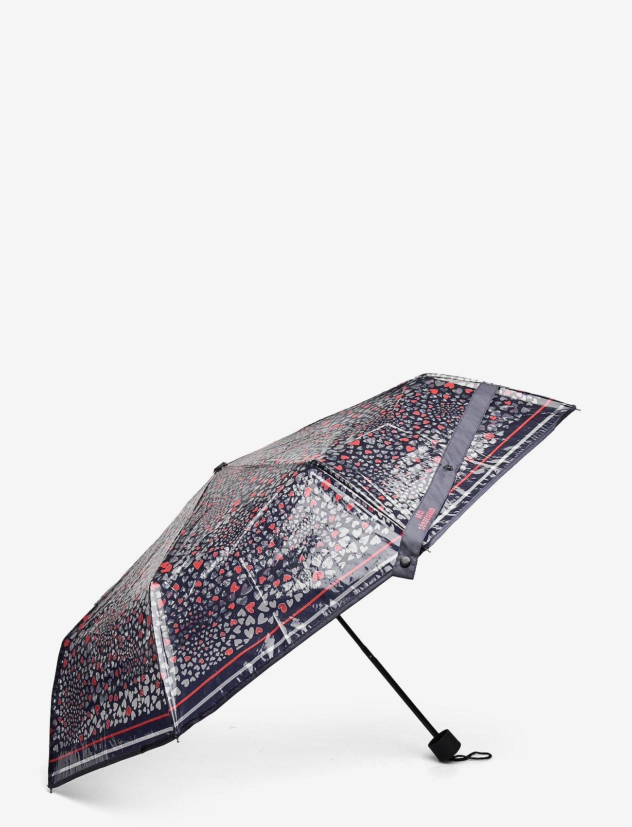 Becksöndergaard - Corazo Transparent Umbrella - paraplyer - blue - 1