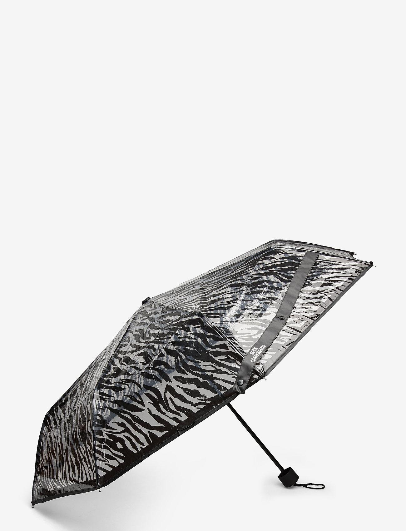 Becksöndergaard - Zestroke Transparent Umbrella - umbrellas - black - 1