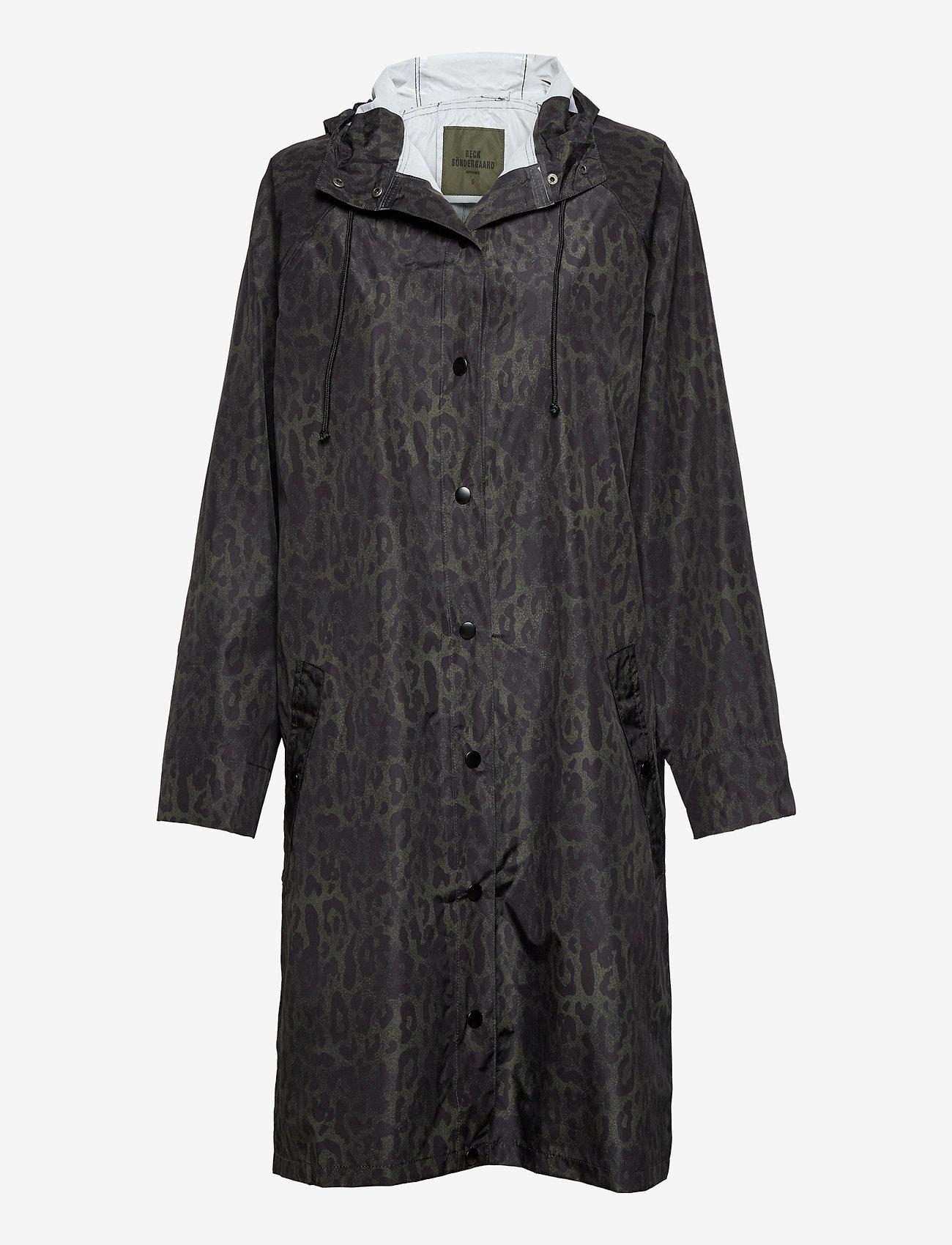 Becksöndergaard - Leolar Magpie Raincoat - sadevaatteet - army green - 1