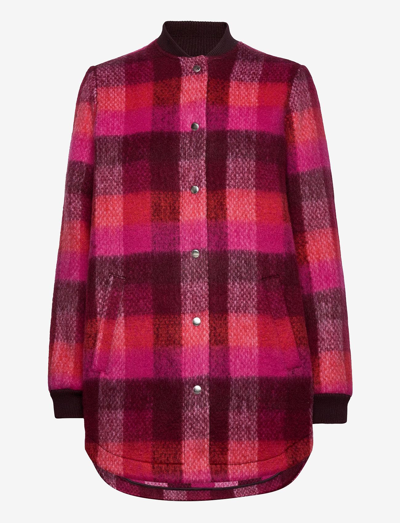 Becksöndergaard - Check Woods Jacket - villakangastakit - pink - 0