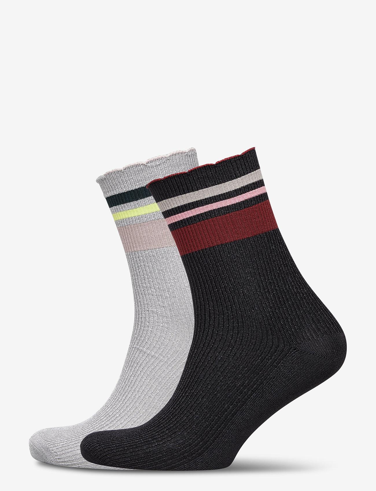 Becksöndergaard - Mix Sock Pack W. 11 - chaussettes - black / qarry - 0