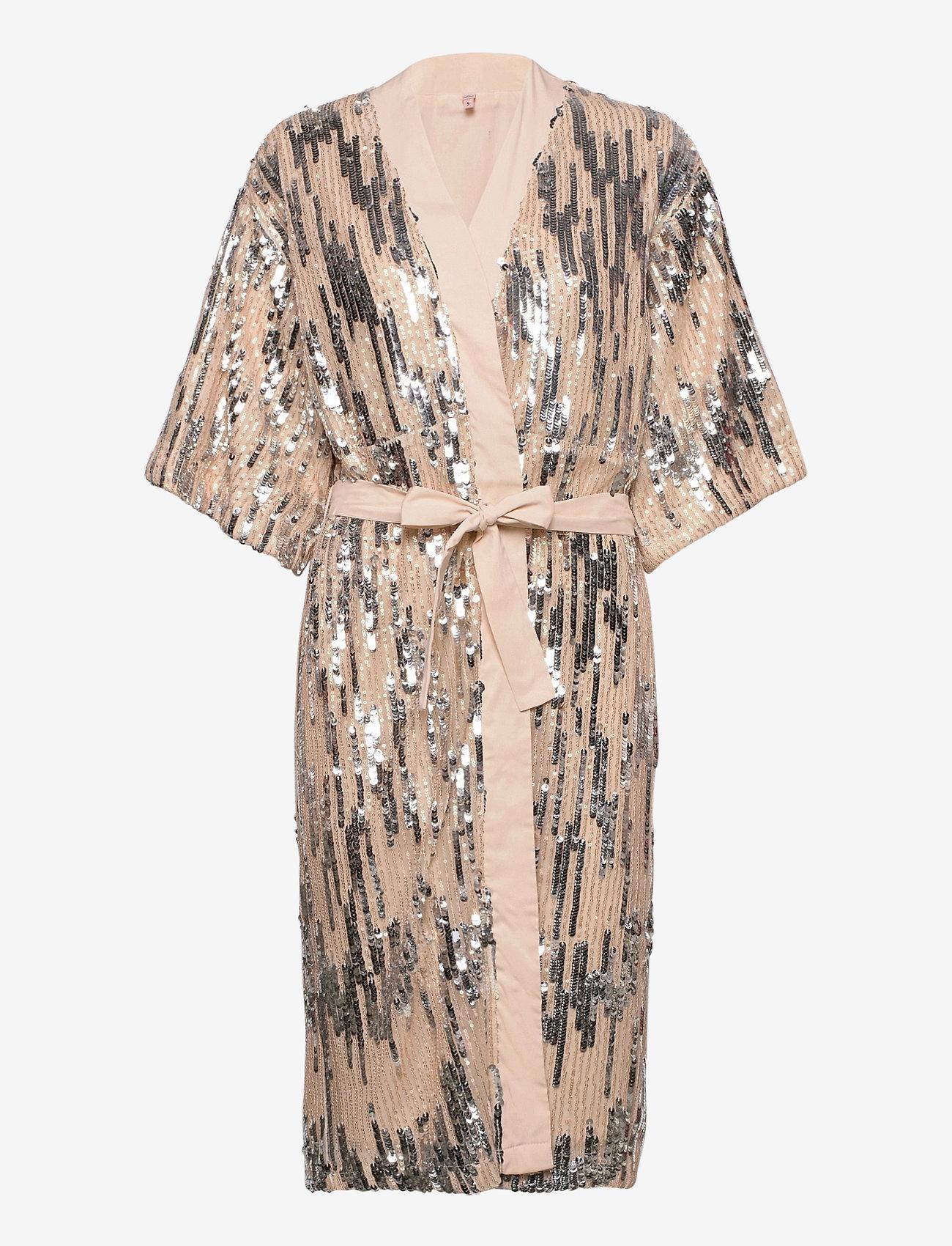 Becksöndergaard - Glitrio Kimono Dress - kimonos - beige - 1