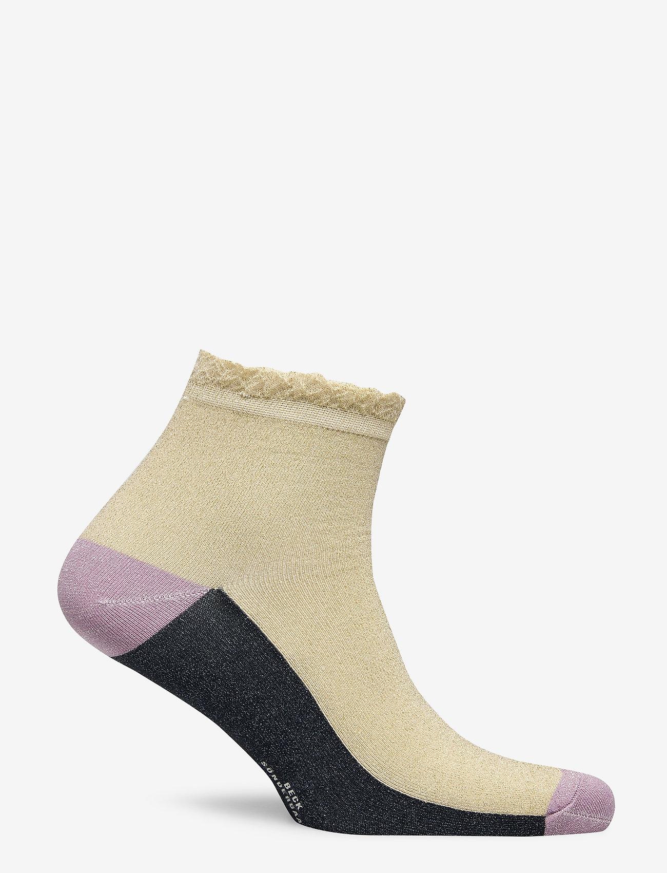 Becksöndergaard - Blocka Glam Sock - ankle socks - sandstone - 1