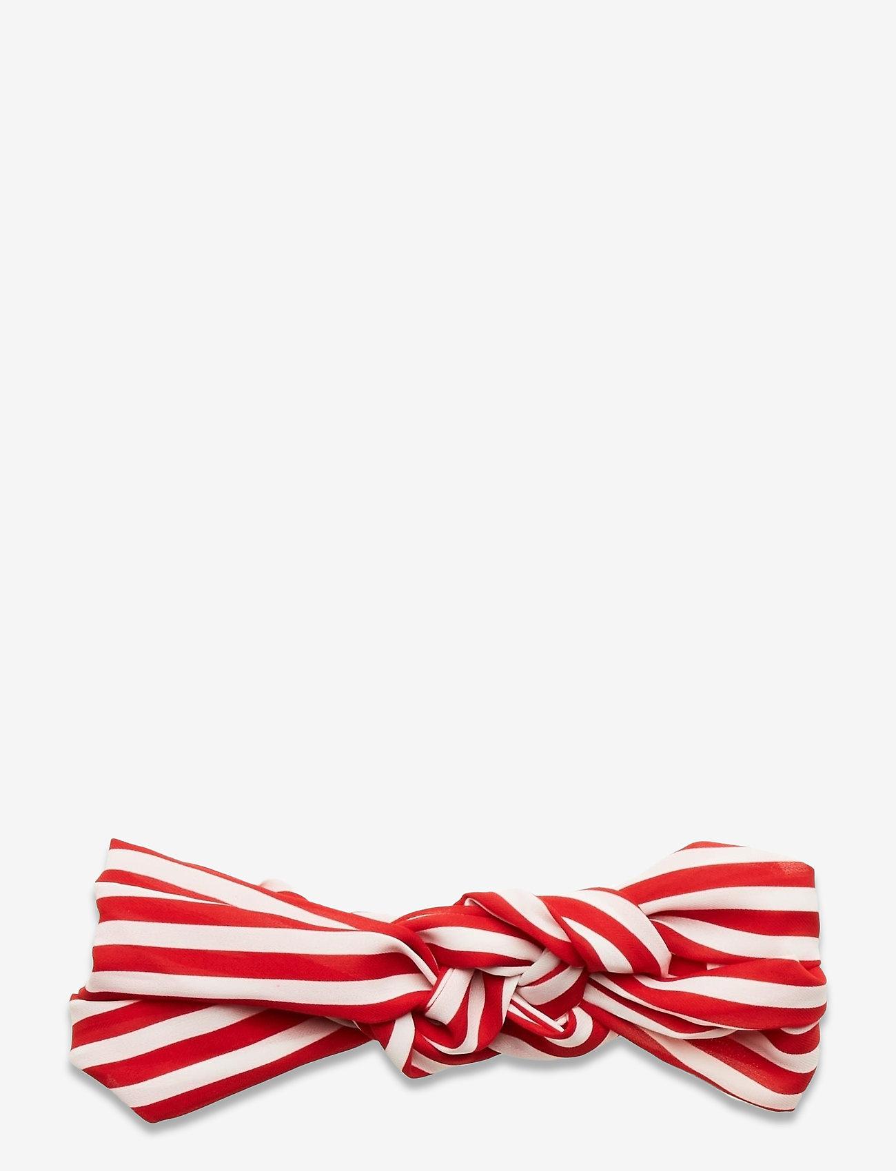 Becksöndergaard - Striped Hairband - haar accessoires - fiery red - 0