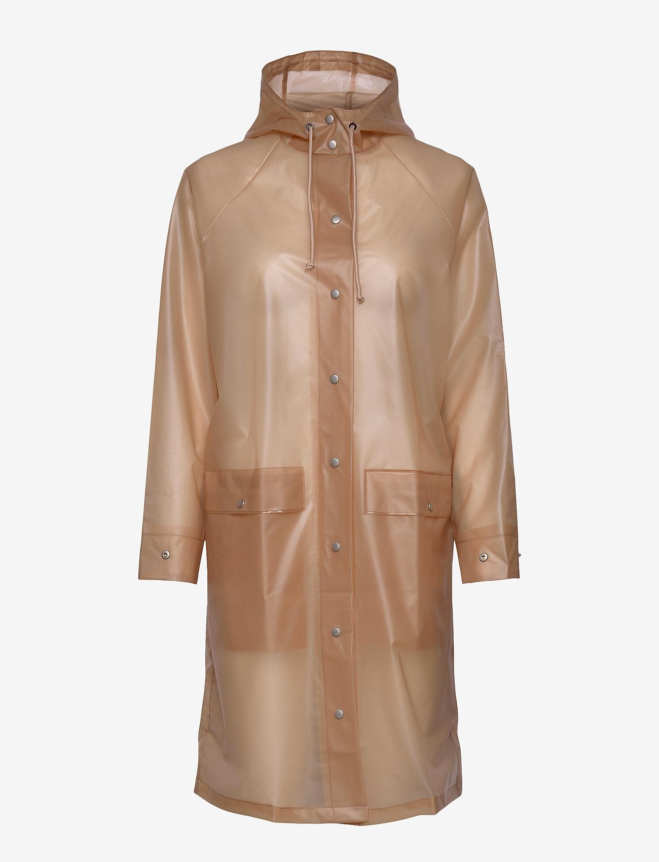 Becksöndergaard - Transparent Magpie Raincoat - regnjakker - muted clay - 0