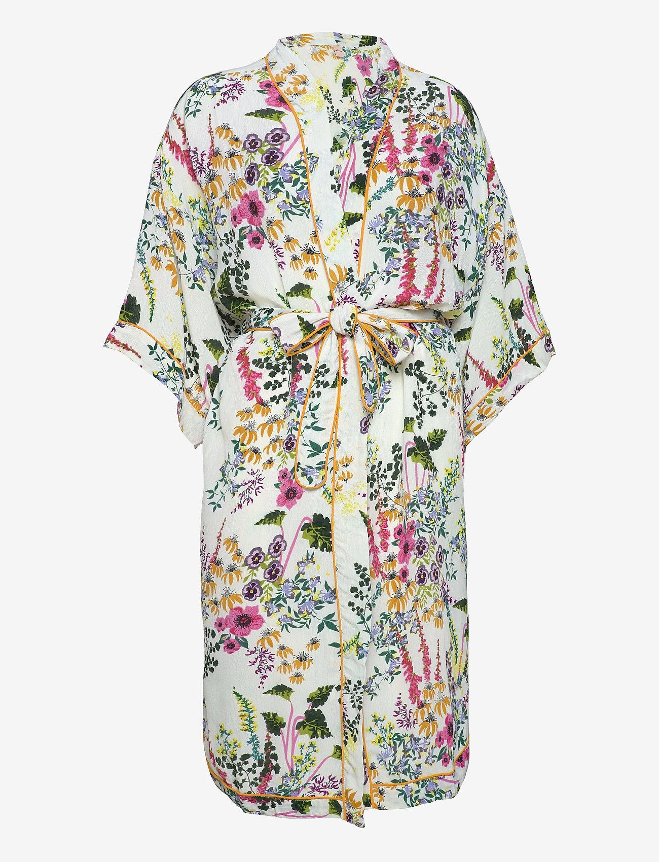 Becksöndergaard - Gardenflo Liberte Kimono - kimonos - white - 0