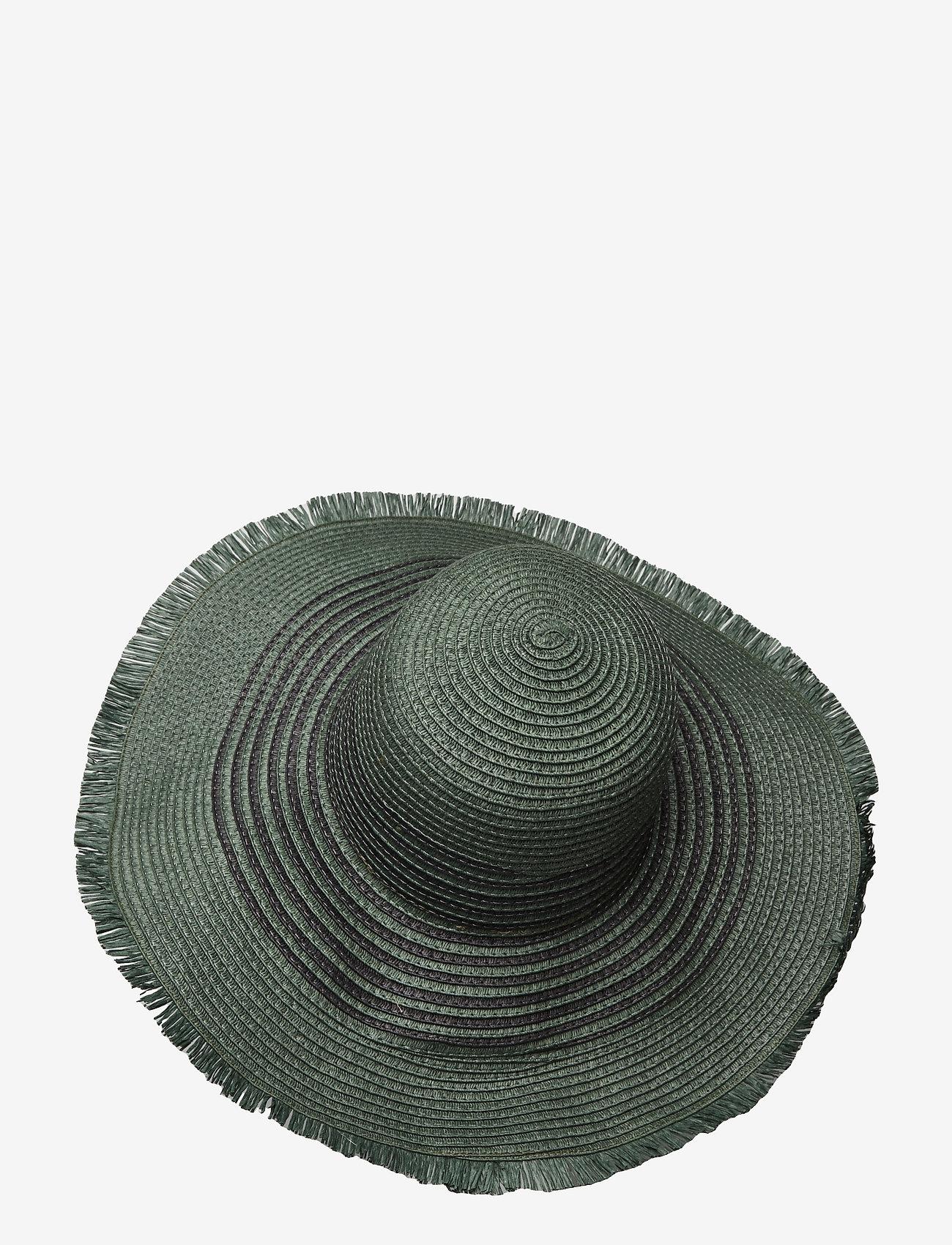 Becksöndergaard - Grethe Straw Hat - stråhatte - army - 1