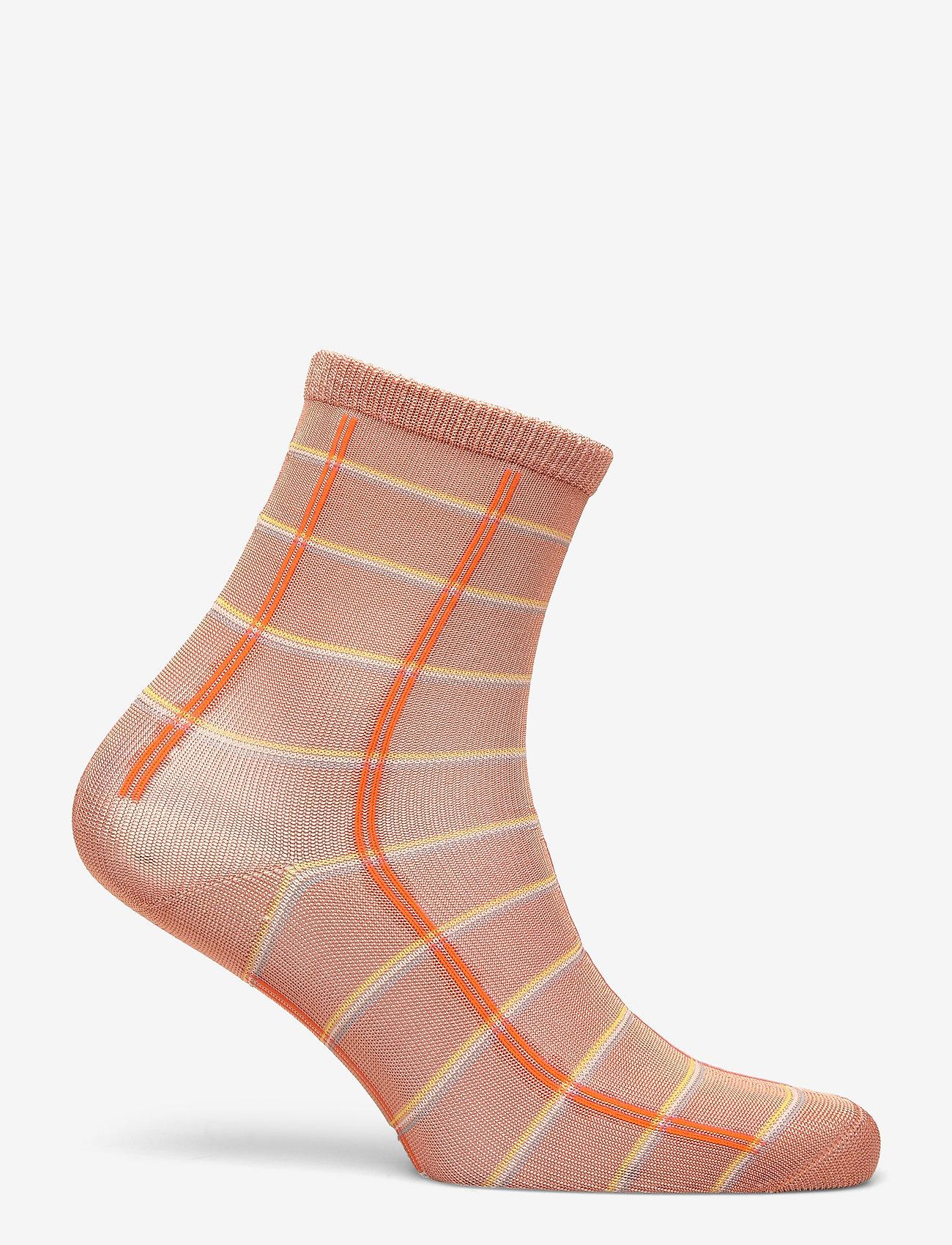 Becksöndergaard - Square Rainbird Sock - sokker - muted clay - 1