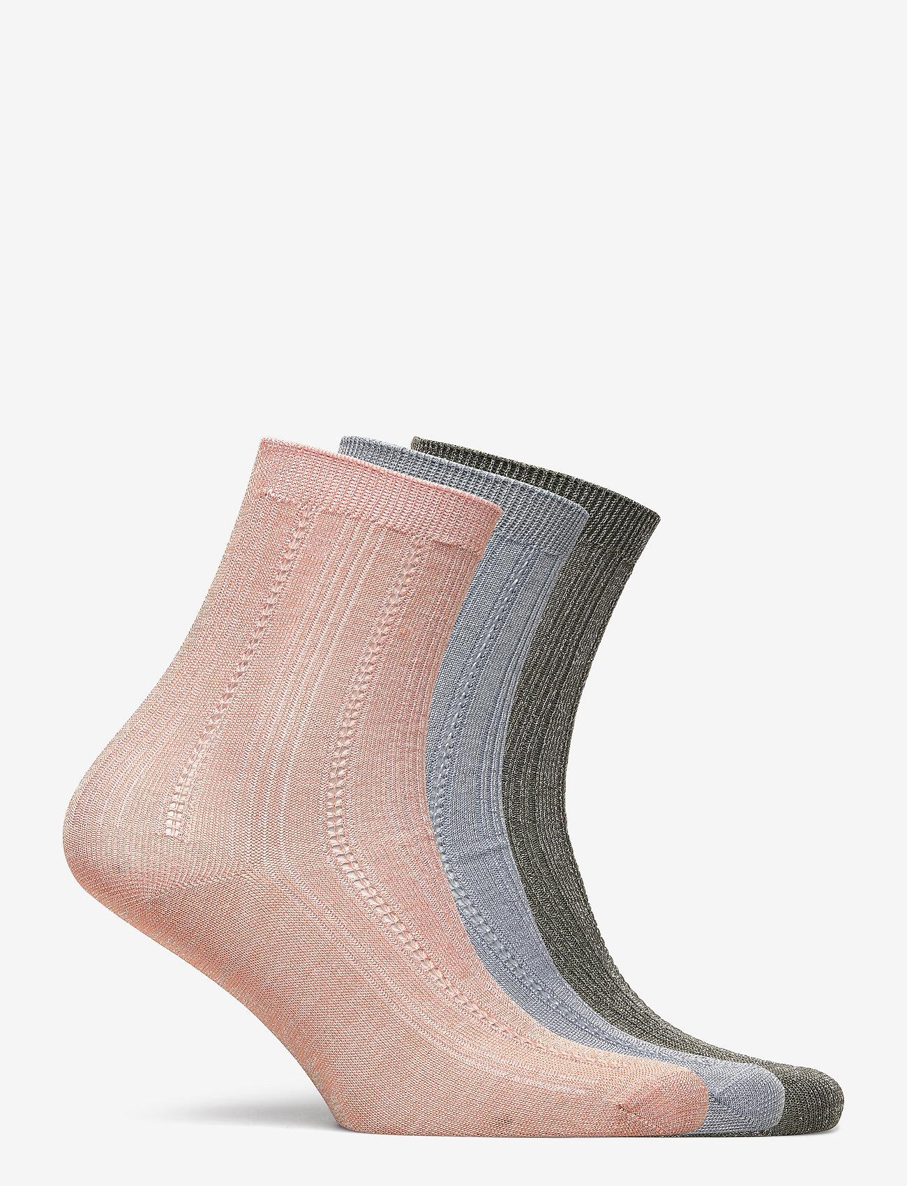 Becksöndergaard - Mix Sock Pack W. 10 - sokker - army/blue/violetice - 1